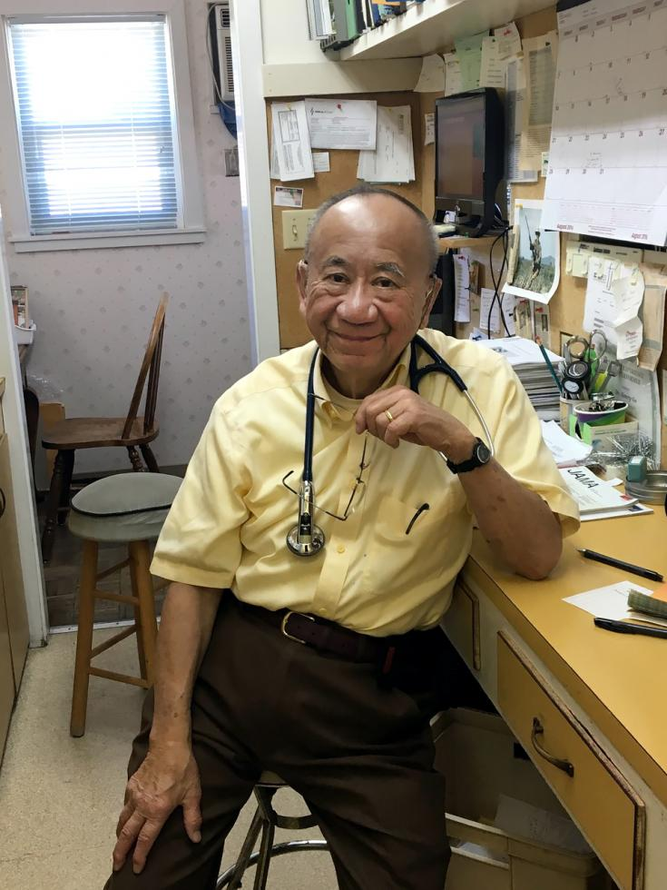 Dr. Henry Go, 82, at his independent practice in Courtland. Go has nearly 2,000 patients and no one to take over his clinic, which has been in operation for almost 100 years.