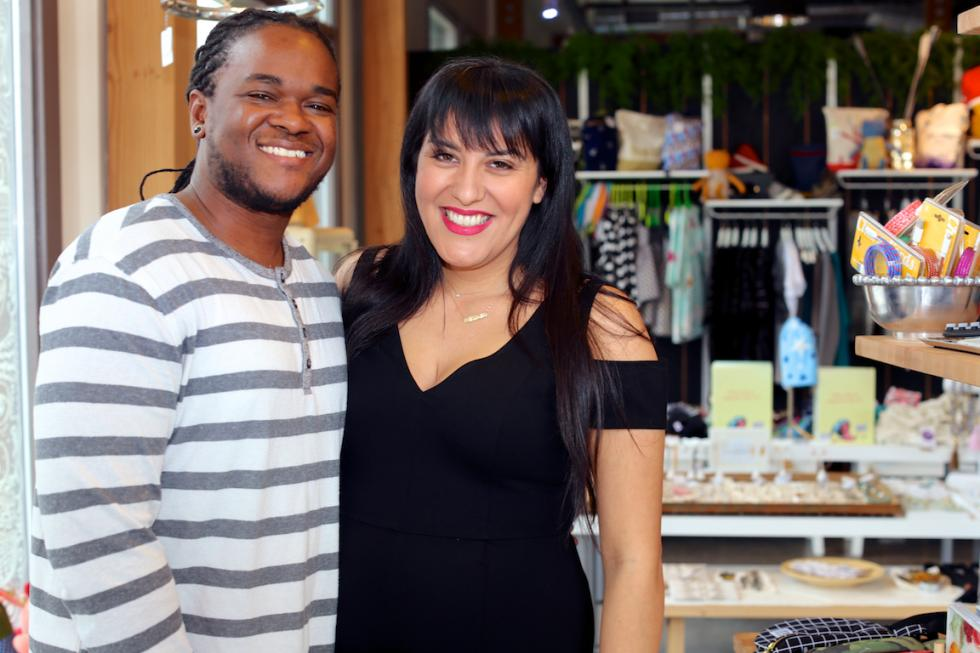 Roshaun and Maritza Davis, owners, Display: California pop-up retail store